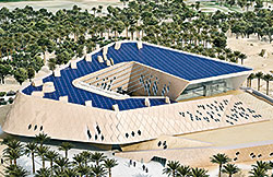 The modern functionality of the winDIM@net system represents a major contribution to the sustainability of the new Sheikh Zayed Desert Learning Centre.