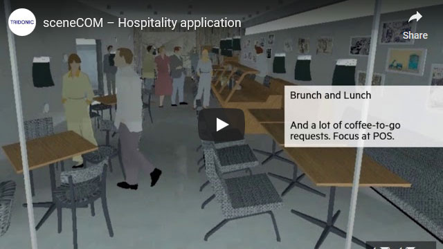 sceneCOM video – Hospitality application